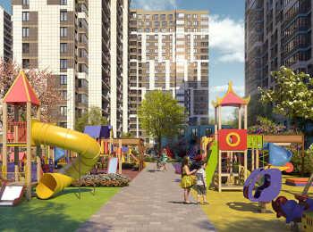 Детская площадка в ЖК Охта Хаус